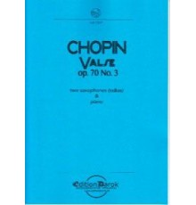 Valse Op. 70 Nº 3 (2 sax- pno)