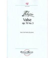 Valse Op. 70 Nº 3 (2cl-pno)