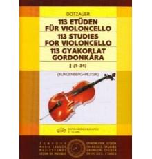 113 Studies for Violoncello I (1-34)