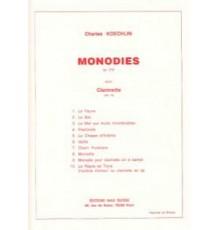Monodies Op.216 pour Clarinette en La
