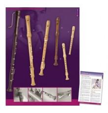 Poster Flautas Madera