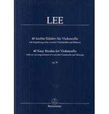 40 Easy Etudes for Violoncello Op. 70