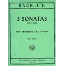 Three Sonatas BWV 1027-1029 for Trombone