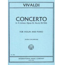 Concerto in A minor Op. 3 Nº 6 RV 356/ R