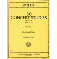 50 Concert Studies  Op.26 Vol.I Nºs 1-25