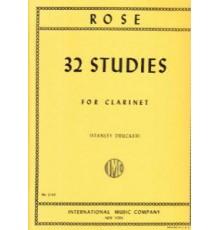 32 Studies for Clarinet