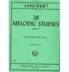 26 Melodic Studies Op.15