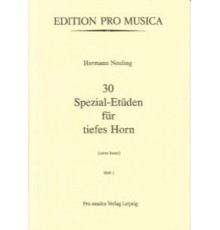 30 Spezial-Etüden für Tiefes Horn Vol I