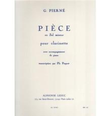 Pièce en Sol mineur pour Clarinett et Pi