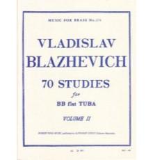 70 Studies for BB flat Tuba Vol. II