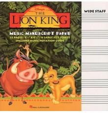 The Lion King Music Manuscript Paper