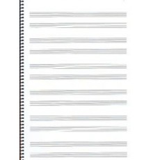 Bloc,PIANO,Folio,Alto,12 Pautas