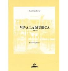 Viva la Música para Voz y Piano