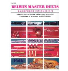 Belwin Master Duets Vol. 2 Saxophone Int