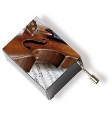 Caja Musical Violín y Pentagrama