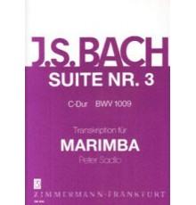 Suite Nº 3 C-Dur BWV 1009 für Marimba