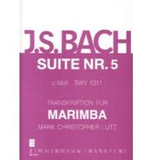 Suite Nº 5 C moll BWV 1011 für Marimba