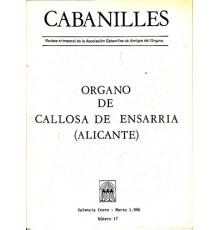 Organo Callosa d?Ensarria. Revista Nº 17