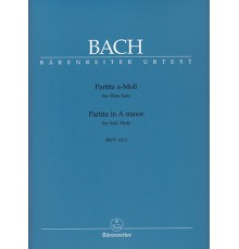 Partita in A minor BWV 1013 Urtext
