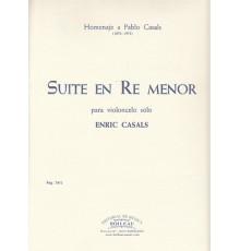 Suite en Re menor para Violoncelo