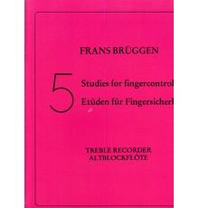 5 Studies for Fingercontrol