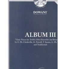 Album III fur Altblockflote und Basso Co