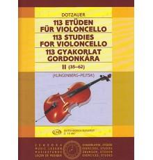 113 Studies for Violoncello II (35-62)