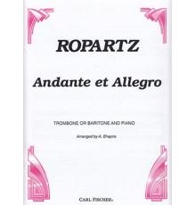 Andante et Allegro. Trombone and Piano