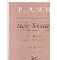 Sechs Sonaten fur Soprablockflote Vol. 1