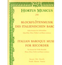 Italian Baroque Music for Recorder. Six