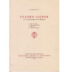 Cuatro Lieder/ Full Score