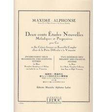 200 Etudes Nouvelles.1 Cahier.Trompa