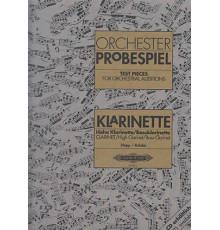 Orchester Probespiel. Klarinette