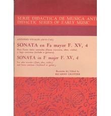 Sonata en Fa Mayor F. XV, 4