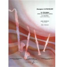 21 Etudes Pour Clarinette. Grade Élément