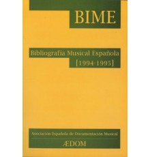 Bibliografía Musical Española (1994-1995
